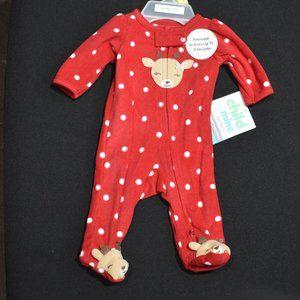 Carter's Child Of Mine Girls Reindeer Pajama